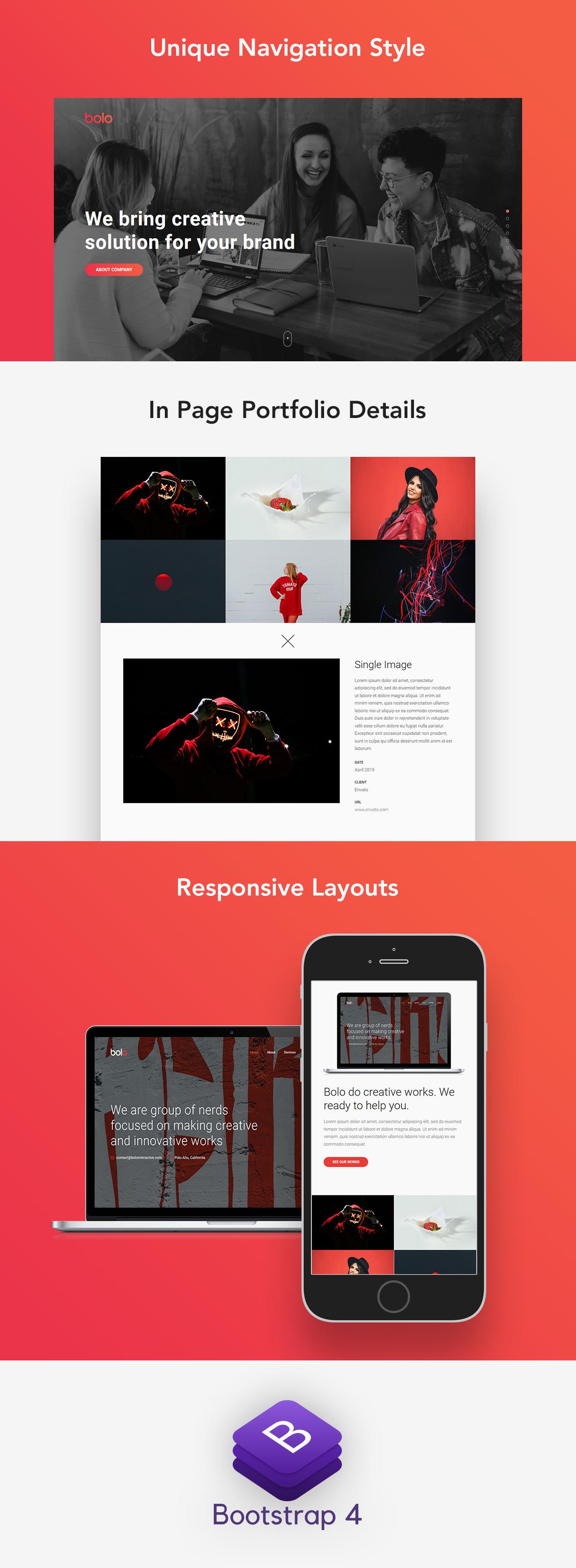 Bolo - Onepage Creative Website Template - 1