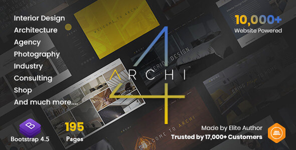 Archi – Interior Design & Multi-Purpose Website Template