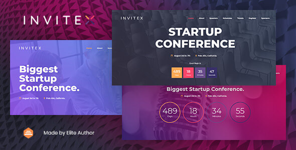 Invitex – Event and Conference Website Template